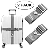 Elastic Luggage Straps, Galopar Suitcase Belt Adjustable Elastic Luggage Strap Travel Accessories Holiday Essentials-2 Pack (Grey)