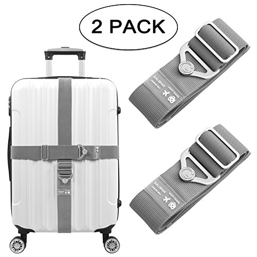 Elastic Luggage Straps Suitcase Belt Adjustable Luggage Strap Accessories-2 Pack