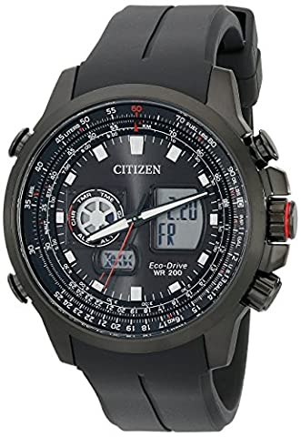 Citizen Eco-Drive Men's Promaster Analog-Digital Watch With Black Silicone Band (Model: JZ1065-13E) (Citizen Watch Silicone)