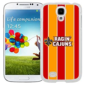 New NCAA Sun Belt Conference Football Louisiana Lafayette Ragin Cajuns 21 Logo Cell Phone Hardshell Cover Case for Galaxy S4 SIV S IV I9500 I9505 White