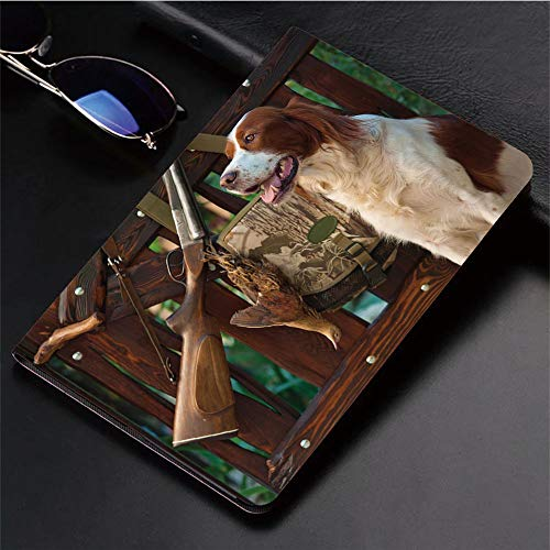 3D Printed iPad Pro 10.5 Case,Rifle and Trophies Pedigreed Hunted Duck Rustic,Protective Cover with Auto Wake/Sleep Compatible with Apple iPad Pro 10.5 inch 2017 Tablet