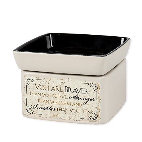 You are Braver Stronger Smarter Electric 2 in 1 Jar Candle and Wax Oil (Electric Tart Burner Soy Candle)