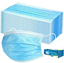 Tukellen 50 Pieces Disposable 3-ply Protection Face Cover Dust-proof Dust Waterproof Cover, High Filtration and Ventilation Security, Model Number: 50Masks