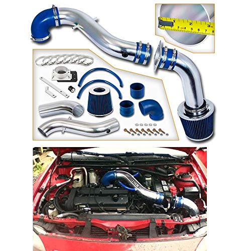 JX-Trading Blue Racing Cold Air Intake with Dry Filter for 1998 1999 2000 2001 2002 2003 Ford Escort ZX2 Zetec 2.0L L4