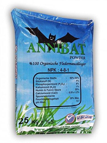Guano Dünger Pulver Fledermausdünger Bio Bat Fertiliser Bat 25 Kg
