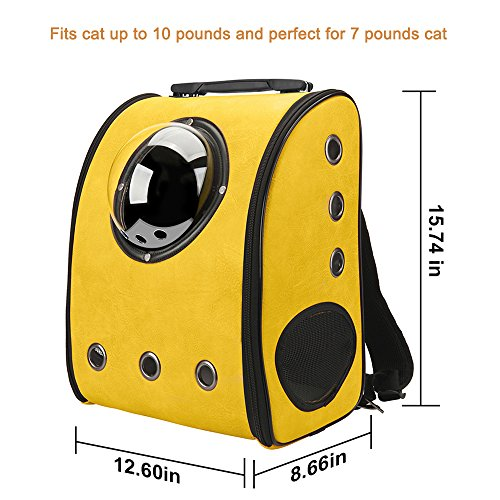 Texsens Innovative Traveler Bubble Backpack Pet Carriers for Cats and Dogs (Yellow) Review