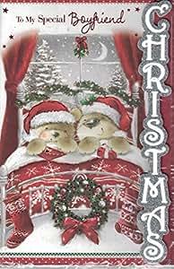Novio tarjeta de Navidad ~ a mi novio especial ~ mediano tarjeta por Prelude tamaño 24cm x16cm