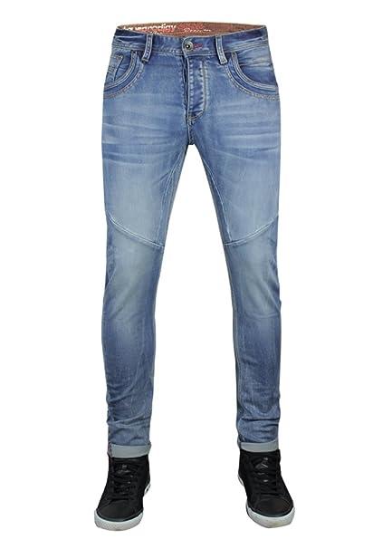 d11f1c9de5 trueprodigy Casual Hombre Marca Jeans Pantalon Elastica Ropa Retro Vintage  Rock Vestir Moda Deportivo Vaquero Slim fit Designer Cool Urban Fashion  Tejanos ...