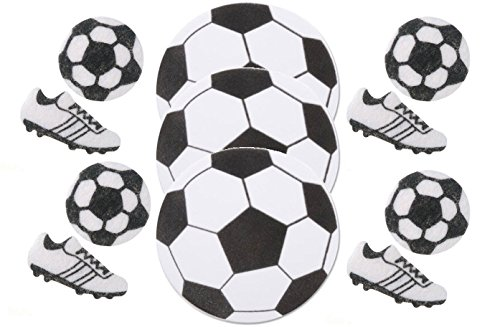 Soccer Foam Shapes and Felt Stickers- 54 Pieces