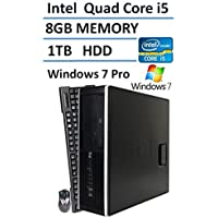 HP 8300 Elite Small Form Factor Desktop Computer (Intel Quad Core i5 Turbo up to 3.6GHz Processor), 8GB DDR3 RAM, 1TB HDD, USB 3.0, DVD, Windows 7 Professional (Certified Refurbished)