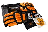 CrudeHands 9075-G1-SS-L Smart Skin Warm Weather Impact Gloves, Large, Black/Orange