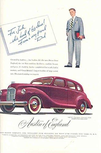 1948 Austin Devon Magazine Ad Coal National City Bank