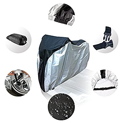 Bike Cover, 190T [Heavy Duty] [Waterproof] Bicycle Cover. Perfect Fit for Outdoor Cycling. Sun Shade and Snow Block Cover for Bike Bicycle by DidaDi®