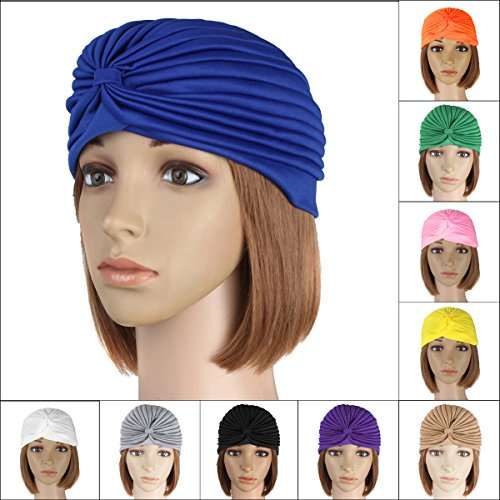 [dipshop Delivery Mummy Puerperal Turban Chemo Costume Full Head Cover Wrap Hats Cap Hair ( Yellow )] (Aerobics Costume Designs)