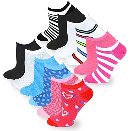 TeeHee Women\'s Fashion No Show Fun Socks 12 Pairs