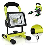 Hallomall 15W 24LED Multi-functional Rechargeable Magnetic Work Light  Bright LED Work Lamp for Outdoor and Indoor even if at the power cut night.  Portable and Durable Work Lamp--aluminum alloy shell, IPX5 waterproof, lightweight, easy to carry or h...
