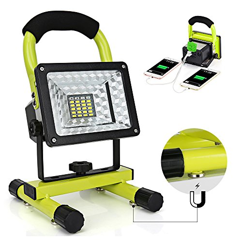 LED Work Light with Magnetic Stand 15W 24 LED Rechargeable Shop Light (Mobile Work Stand)