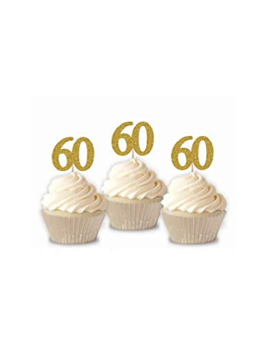 Amazon 60 Cupcake Toppers 60th Birthday Cupcake Toppers 60th