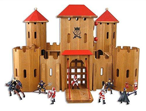 Drewart Ritterburg aus Holz - große Drewart Ritterburg mit Figuren