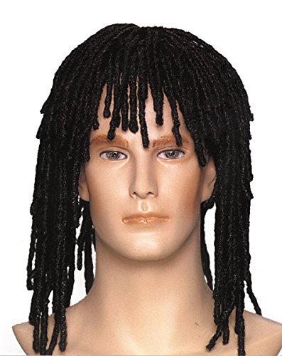 Loftus International Adult Star Power Dreadlocks Rasta Hippie Wig, Black, One Size -