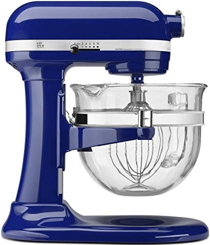 KitchenAid KF26M2XBU 6-Qt. Professional 600 with Glass Bowl Cobalt Blue