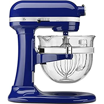 KitchenAid KF26M2XBU 6-Qt. Professional 600 with Glass Bowl Cobalt Blue