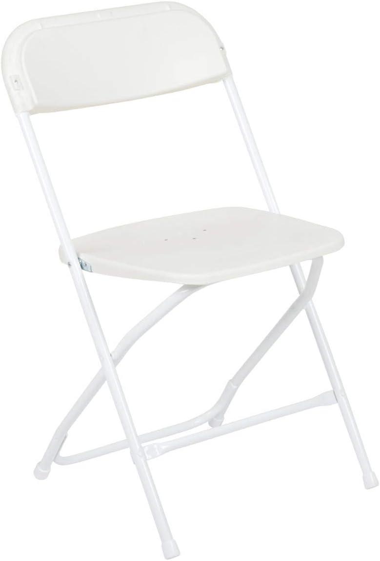 Amazon Com Flash Furniture Hercules Series 650 Lb Capacity Premium White Plastic Folding Chair Furniture Decor