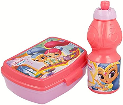 Set Botella Cantimplora Sport Y Sandwichera De Shimmer and Shine Palace, Multicolor (STOR ST-22276)