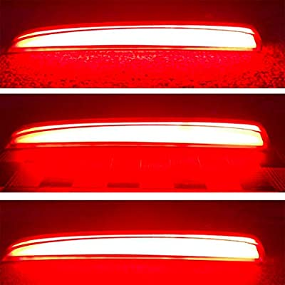 GeeGee Red Lens LED Rear Bumper Reflector Tail Brake Lights For 2020-up Honda Civic Hatchback, Type-R or SI 4-Door Sedan Function as Tail Brake Rear Fog Lamps (Red Led): Automotive