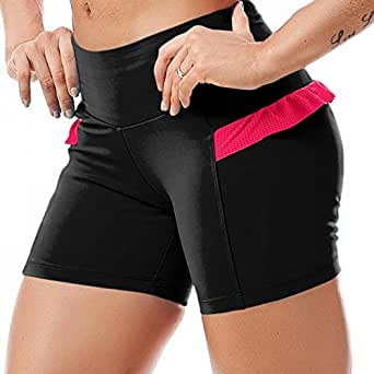 Sexy Yoga Shorts , Cute Workout Shorts, Fashion Gym Shorts Ref 5202 Black (Medium)