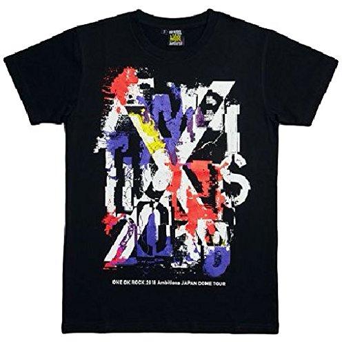 ONE OK ROCK(ワンオクロック)2018 AMBITIONS JAPAN DOME TOUR 公式グッズ DOME Tシャツ-C(Overlap)/BLACK Mサイズ   B07BJH7V99