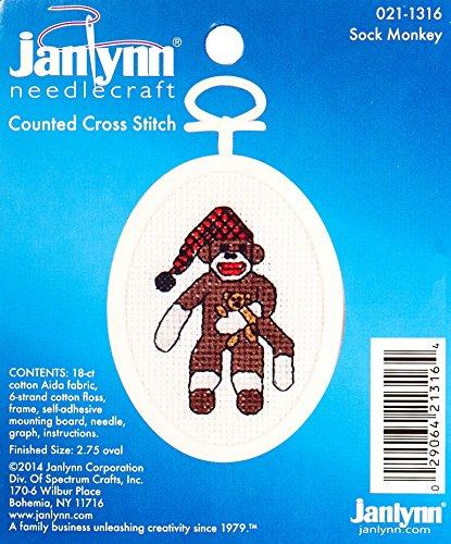 The Janlynn Corporation Ready, Set.Stitch Sock Monkey Counted