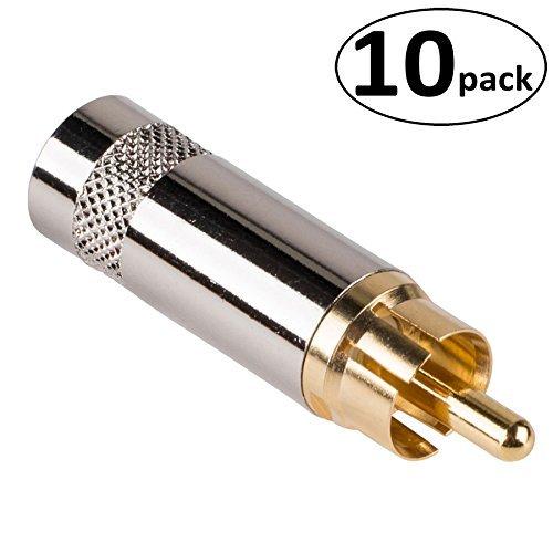 Connectors Rca Neutrik - Rean NYS352G RCA Plug Gold 10 Pack