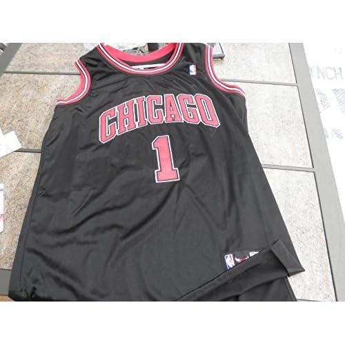 online retailer 53094 190d2 Derrick Rose Autographed Chicago Bulls Sewn On Jersey ...