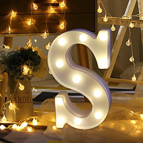 Light Up Letters,SMYTShop Warm White LED Letter Light Up Alphabet Letter Lights for Festival Decorative Letter Party Wedding (Decorative Letters)