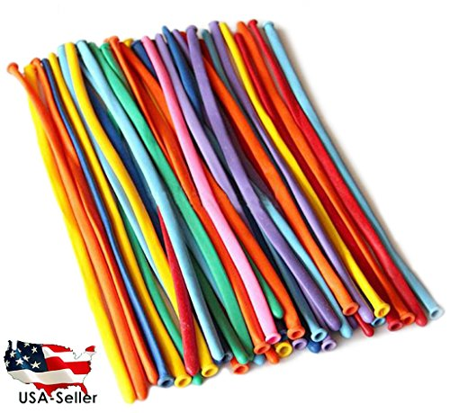 """100 Pcs ASSORTED Color 46"""" Magic Long balloons For Balloon animals, Tying Balloons ,Twist BalloonsUSA SELLER(Jarty Party Brand)"""