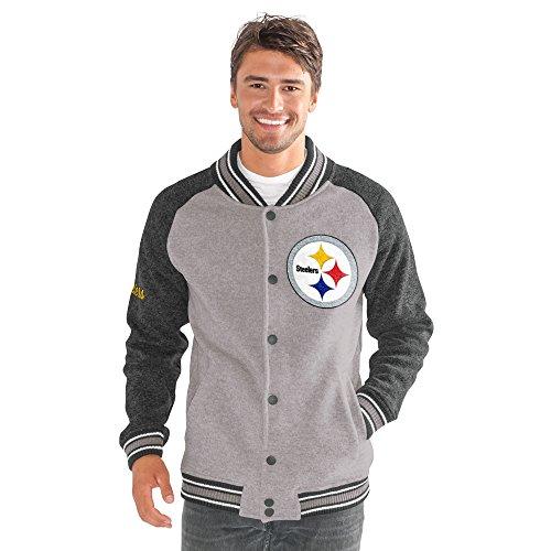 (G-III Sports by Carl Banks Adult Men The Ace Sweater Varsity Jacket, Gray, Medium )