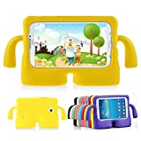 Lioeo Samsung Galaxy Tab 3 / 3 Lite 7.0 Case for Kids Rubber Shock Proof Protective Case Cover with Carry Handle for Samsung Galaxy Tab 3 /3 Lite Tablet 7 inch Screen (Yellow)