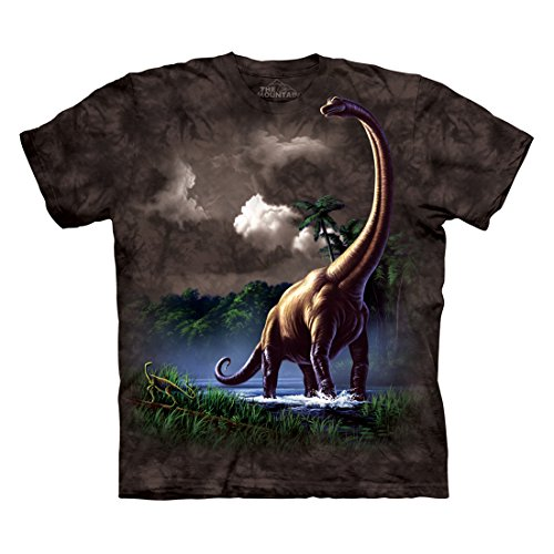 The Mountain Men's Brachiosaurus Dinosaur T-Shirt, Black, L