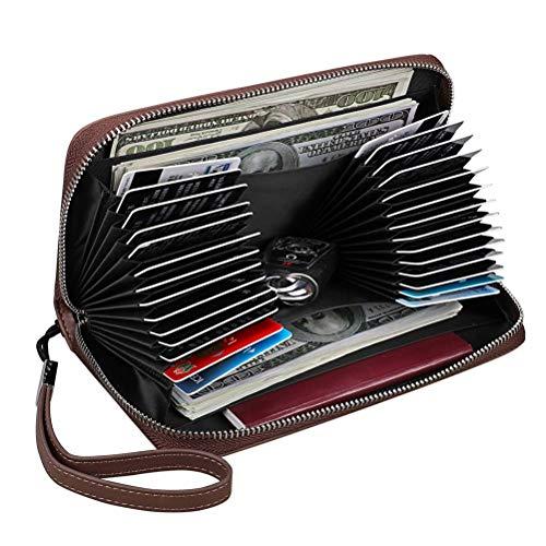 Grande color De New 4 cartes Phone Nouveaux Carte Multi Sac Crédit Les Capacité En Cuir 5 Zipper Pour Hommes Bag Pochette Niceamz qwXHAIx