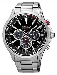 Seiko SSC493 Men's Stainless Steel Solar Chronograph Wrist Watch