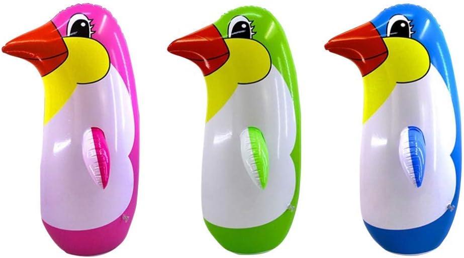 TOYANDONA 3pcs Inflable Pingüino Juguetes Suave Vaso Inflable Partido de Juguete Accesorio para niños Juego de Interior - 22 cm (Color Aleatorio)