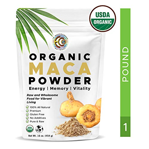Earth Circle Organics -Organic maca root powder, natural superfood , helps with energy, hormone, weight and womens fertility - 1 pound