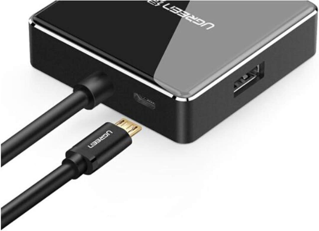 Hongyushanghang Hub High Speed HUB Docking Station USB3.0 Splitter Color : Black Line Length 1 Meter Corrosion Protection