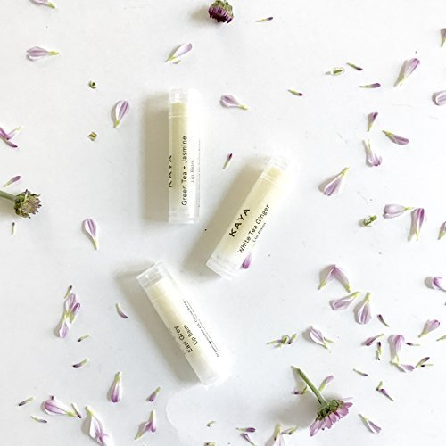 Kaya Tea Special Lip Balms | Natural & Organic | Earl Grey Tea Bergamot, Green Tea Jasmine, White Tea Ginger