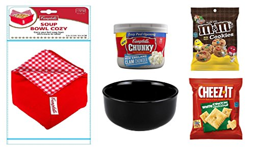 Campbells Soup Gift - Complete Box Meal - Complete Meal Kit - Soup Gift Basket (Bowl and Cozy, New England Clam Chowder)