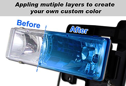 3 X Vans 110ML JDM Lens Blue Tint Head Tail Fog Bumper Light Painter Paint Spray