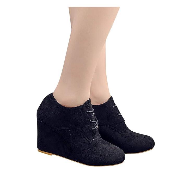 showsing-women shoes - Botas para Mujer Beige Negro (5: Amazon.es ...