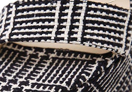 Black forme LINYI Plate Boucle Summer Haute Talons Femmes Sandales Étanche Talon Party aiguilles T6xrqI7wB6