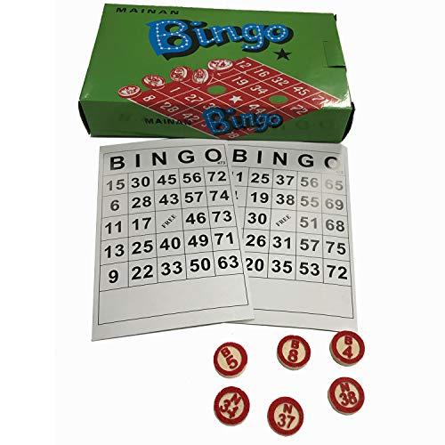 (Bingo Game Wooden Number)
